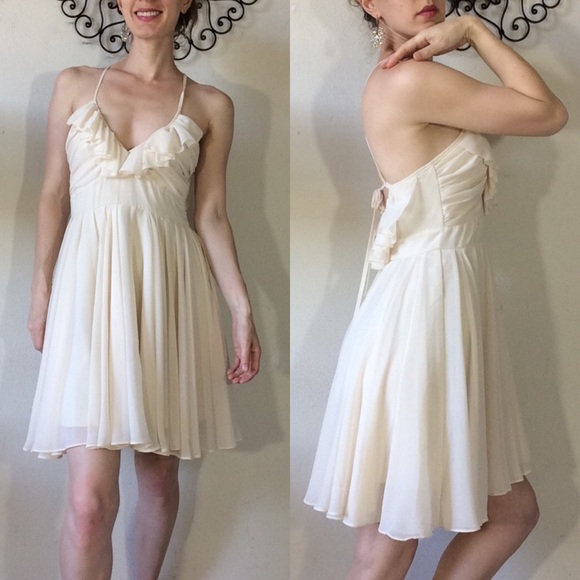 Ark & Co Dresses & Skirts - Ark & co. creamy white Flowy chiffon mini dress